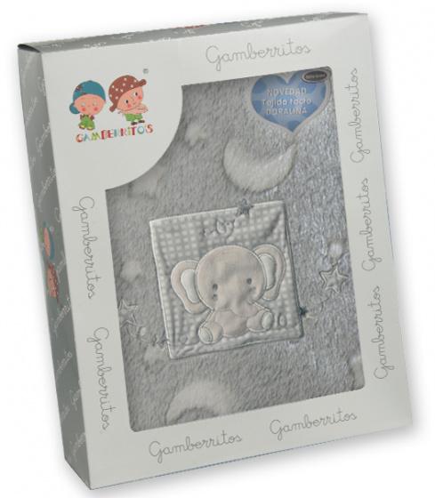 gamberritos beddenset olifant 80 x 120 cm polyester grijs 3 delig 556676 1614606873