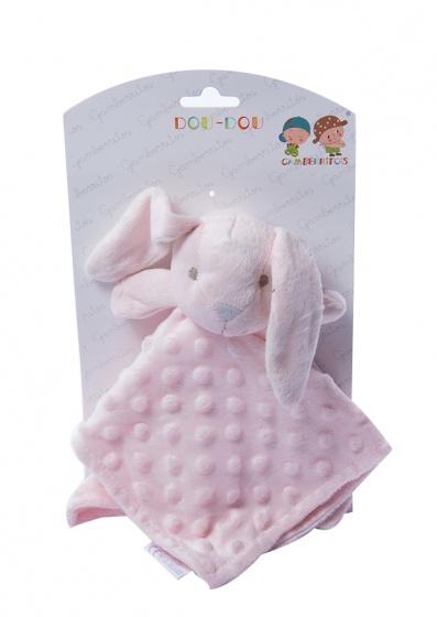 gamberritos knuffeldoekje konijn 23 cm roze 354651 1579593193