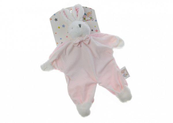 gamberritos knuffeldoekje konijn 23 cm roze 354701 1579595942