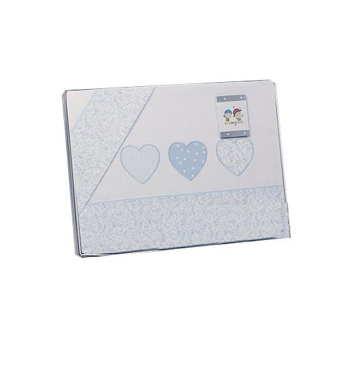 gamberritos laken set blauw hartjes 3 delig groot 383457 1586951735