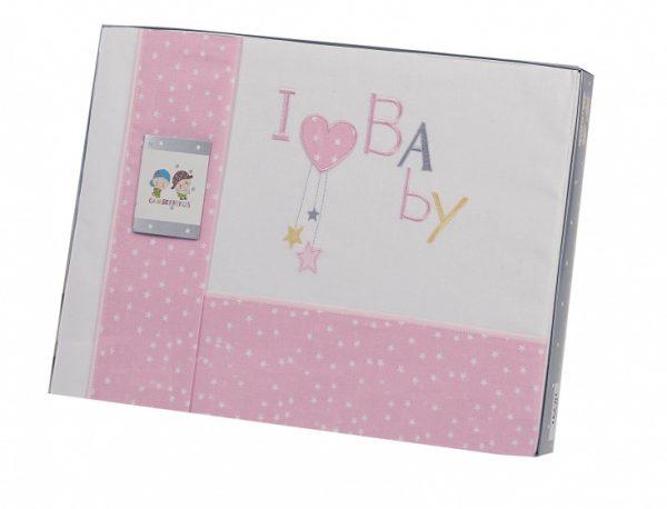 gamberritos laken set roze baby 3 delig middel 384046 1587030137