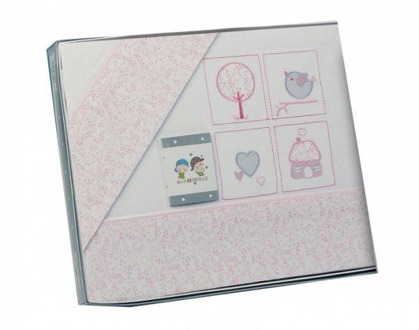 gamberritos laken set roze figuurtjes 3 delig 383673 1586961823