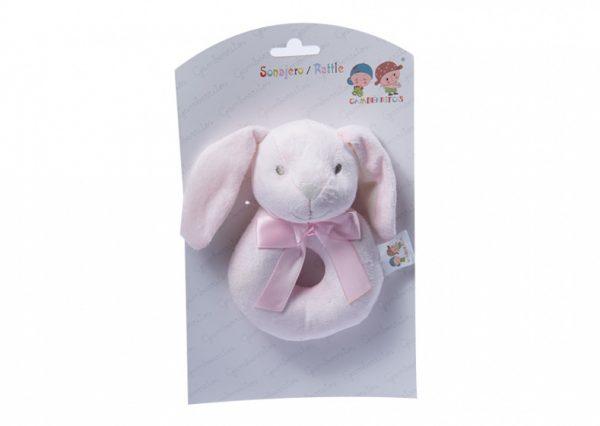 gamberritos ringrammelaar konijn 12 cm roze 355108 1579620654