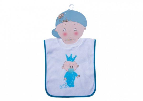 gamberritos slabbetje babykoning katoen blauw 359727 1580818028