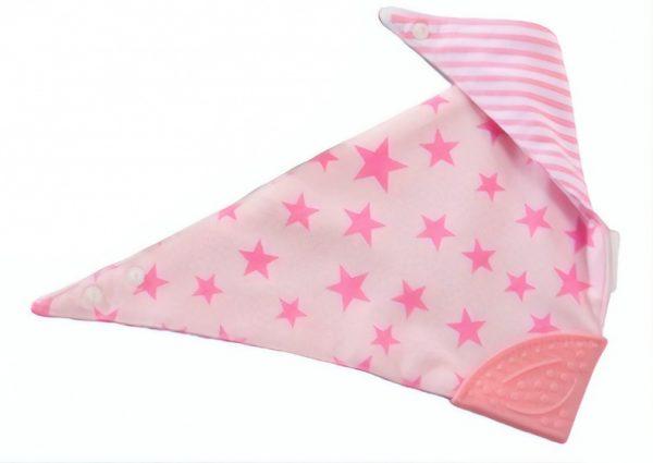 gamberritos slabbetje sterren 44 cm roze 364661 1582273895