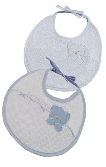 gamberritos slabbetjes teddybeer jongens blauw 2 stuks 355057 1579616959