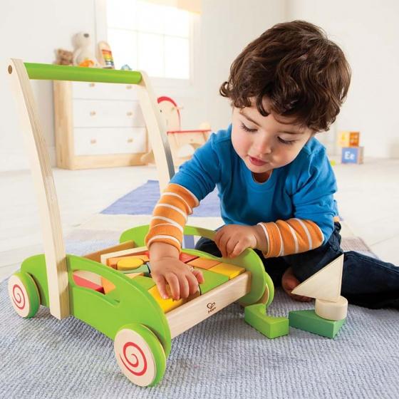 hape houten blokkenwagen groen 21 blokken 3 280810 1551770249