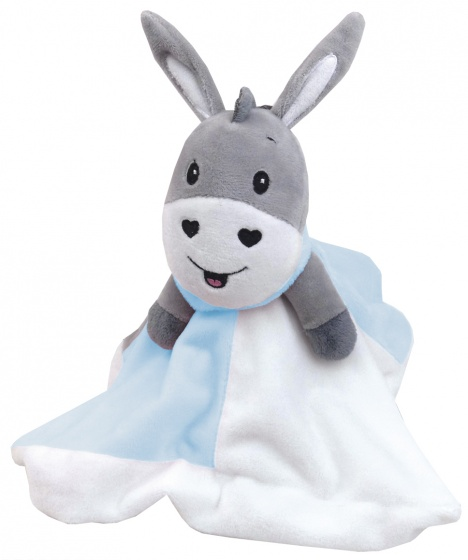 happy people knuffeldoekje ezel grijs blauw 25 cm 312206 20190822110443
