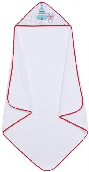 interbaby badcape en nachtlamp 100 cm katoen wit rood 2 delig 2 533846 1611664525