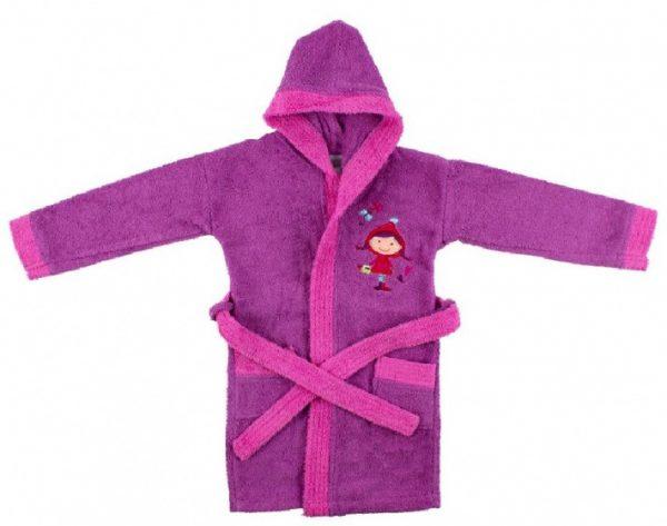 interbaby badjas junior katoen violet rozemaat 116 128 821675 1616849402 2