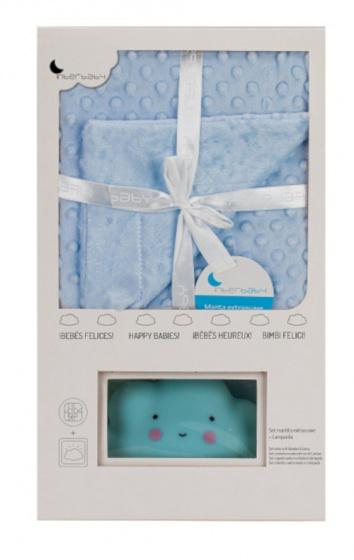 interbaby deken en lampje junior 80 x 110 cm fleece blauw 2 delig 2 821476 1616841986