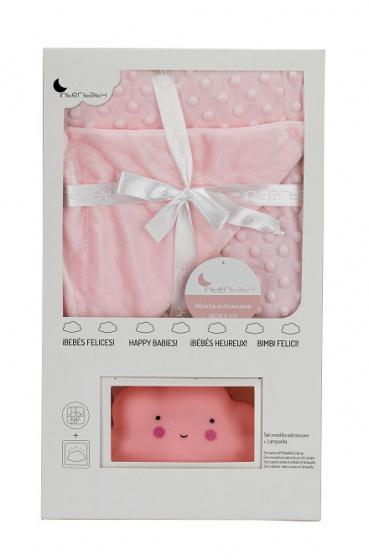 interbaby deken en lampje junior 80 x 110 cm fleece roze 2 delig 2 821499 1616842568