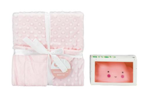 interbaby deken en lampje junior 80 x 110 cm fleece roze 2 delig 821499 1616842568