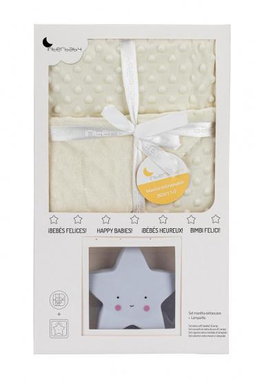 interbaby deken met lamp junior 80 x 110 cm fleece beige 2 delig 2 821409 1616840050