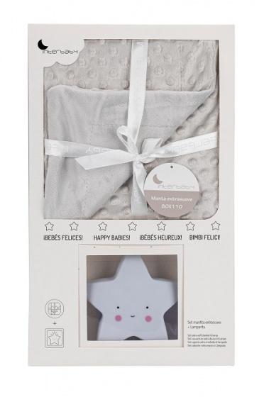 interbaby deken met lamp junior 80 x 110 cm fleece grijs 2 delig 2 821438 1616840961