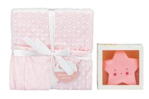 interbaby deken met lamp junior 80 x 110 cm fleece roze 2 delig 821378 20210327113758