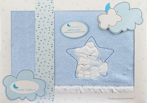 interbaby lakenset wieg ster 110 x 82 cm polyester blauw 3 delig 535921 1611841127