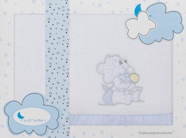 interbaby lakenset wieg winter 110 x 82 cm lichtblauw 3 delig 535784 1611832552