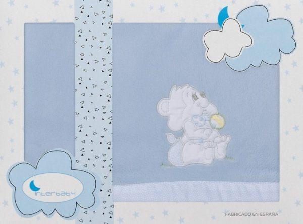 interbaby lakenset wieg winter 110 x 82 cm polyester blauw 3 delig 535759 20210128120648