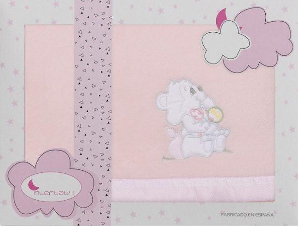 interbaby lakenset wieg winter 110 x 82 cm polyester roze 3 delig 535763 20210128120705