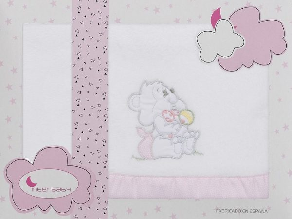 interbaby lakenset wieg winter 110 x 82 cm wit roze 3 delig 535789 1611832848