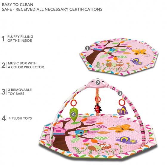 kidwell babygym niba educatief 104 cm roze 4 341263 1575633945