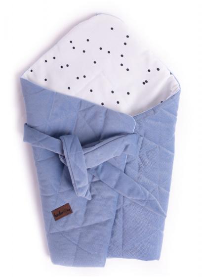 kinder hop inbakerdoek triangles 66 cm fluweel katoen blauw 498732 1605536956