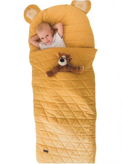 kinder hop slaapzak dream catcher 170 cm polykatoen geel 498559 20201116133935 1