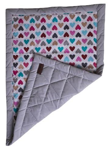 kinderhop deken triangles 100 x 70 cm katoen fluweel grijs 463998 1600703089 1