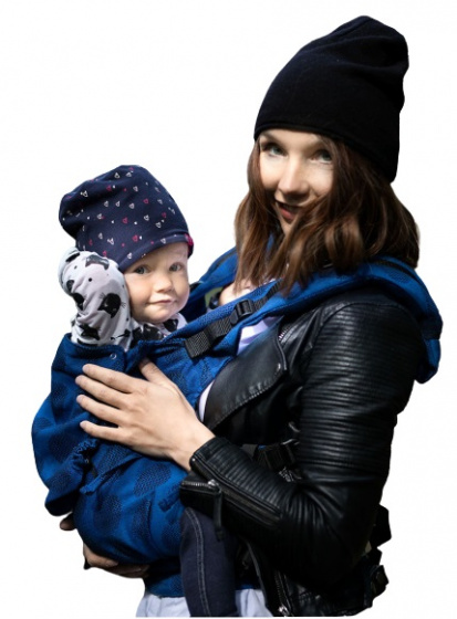 kinderhop draagzak multi soft dots katoen blauw 456248 1599052351