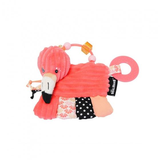 les deglingos activiteitenrammelaar flamingo roze 15 cm 381723 1586609211