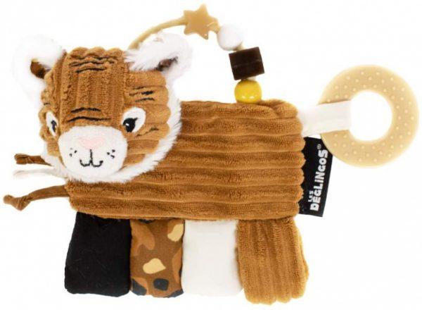 les deglingos activiteitenrammelaar tijger junior 22 cm pluche bruin 424334 1593154531
