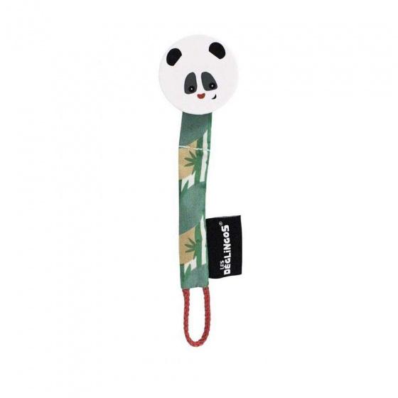 les deglingos fopspeenketting panda wit groen 20 cm 381200 1586519787