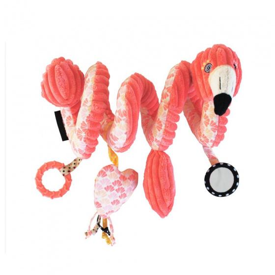 les deglingos kinderwagenspanner spiraal flamingo roze 30 cm 380880 1586506391