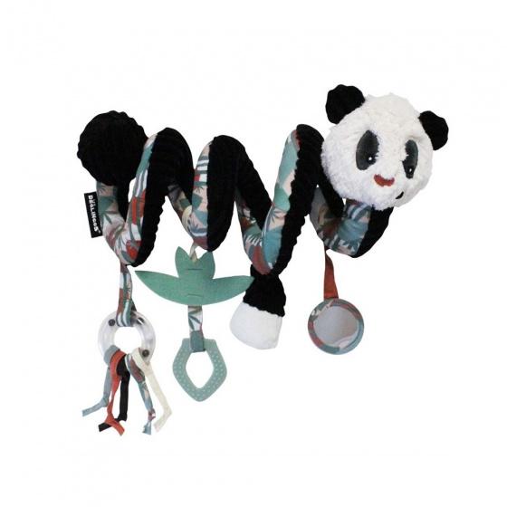 les deglingos kinderwagenspanner spiraal panda zwart wit 30 cm 380894 1586507809
