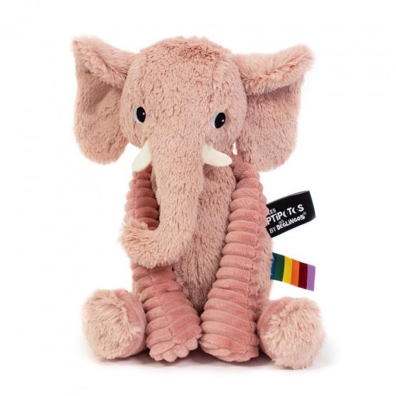 les deglingos knuffel olifant roze 20 cm 381927 1586763780