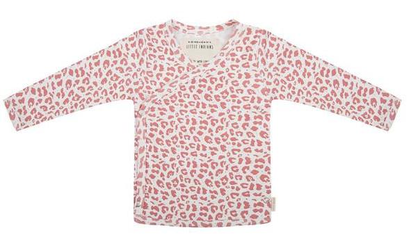 little indians longsleeve leopard meisjes katoen roze wit 408800 1591091305