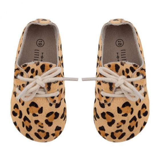little indians schoenen luipaard 135cm leer beige 393183 1588327299
