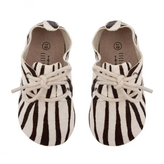little indians schoenen zebra 125cm leer zwart wit 393156 1588326365
