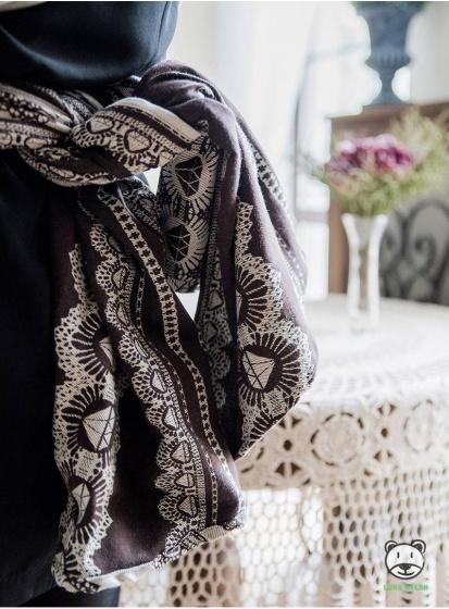 luna dream draagdoek sling diamond lace sensual katoen bruin 2 399537 1589549818