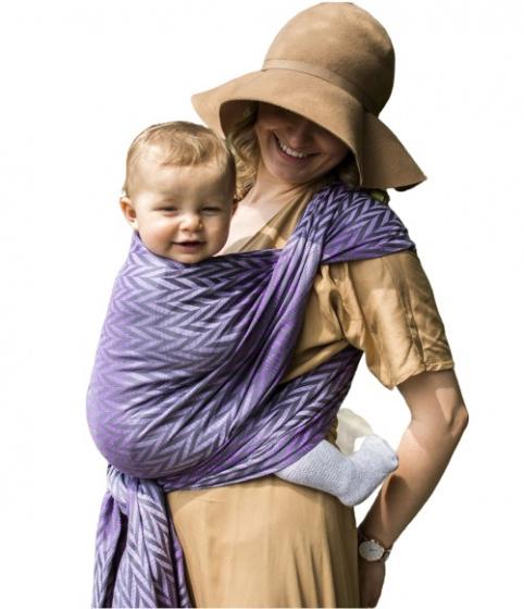 luna dream draagdoek sling herringbone purple katoen paars 399575 1589551333