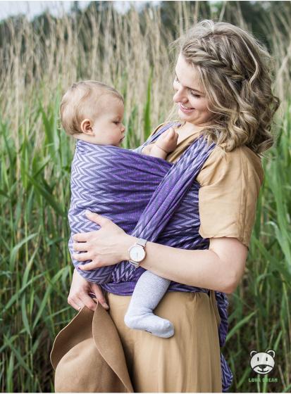 luna dream draagdoek sling herringbone purple katoen paars 3 399575 1589551333
