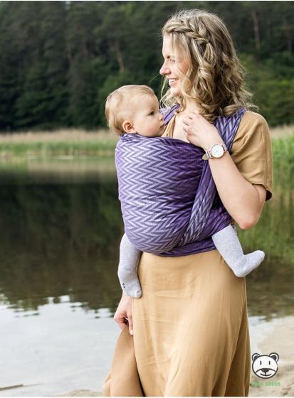 luna dream draagdoek sling herringbone purple katoen paars 5 399575 1589551334