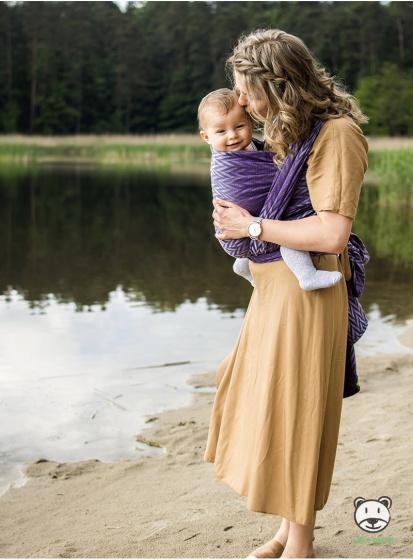 luna dream draagdoek sling herringbone purple katoen paars 6 399575 1589551334