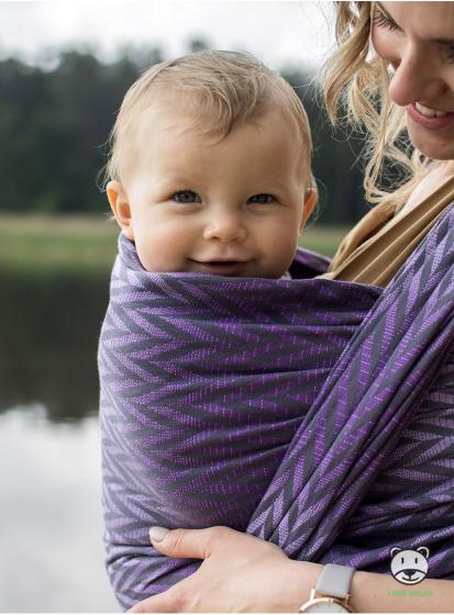 luna dream draagdoek sling herringbone purple katoen paars 7 399575 1589551335