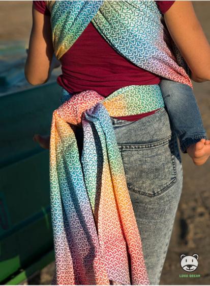 luna dream draagdoek sling little hearts rainbow katoen 4 399577 1589551557