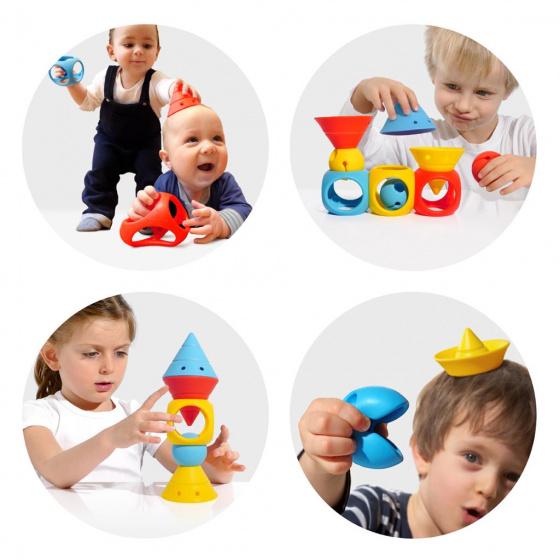 moluk omvormbare speelblokken elastisch rubber 9 stuks oranje geel blauw 4 380364 1586434700