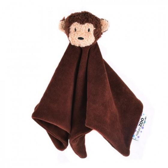 naturezoo knuffeldoekje aap biologisch 32 cm bruin 333594 1573462050