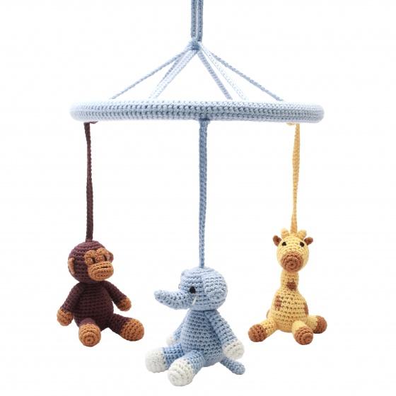 naturezoo mobiel aap olifant giraffe gehaakt junior 24 cm multicolor 340012 1575294240