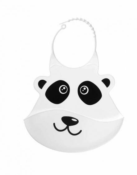 nuby slabbetje 3d dierendesigns panda siliconen 28 cm wit 419946 1592467849